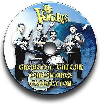 The Ventures Pop Guitar Tabs Tablature Song Book Software Cd
