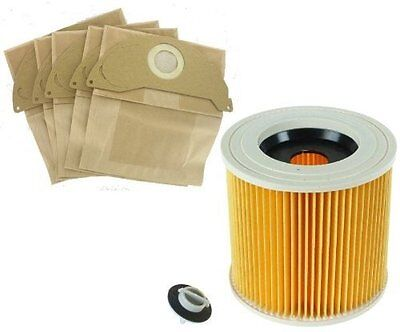 FILTER & BAGS for KARCHER WD2.200 WD3.500 Wet & Dry Vacuum Cleaner hoover 141