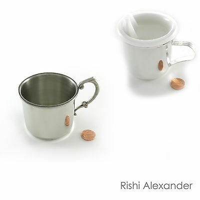Baby Cup Silver Plated and Pewter Monogram Personalized Engraving Gift