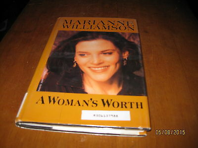 A Womans Worth By Marianne Williamson 1994 Hardcover Reprint Large Type