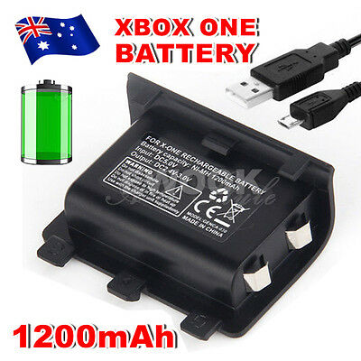 For Xbox One Battery Charger Pack Wireless USB Rechargeable Controller 1200mAh