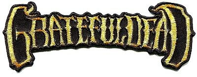 GRATEFUL DEAD Golden Logo EMBROIDERED IRON-ON PATCH Free Shipping 50th ann p4313