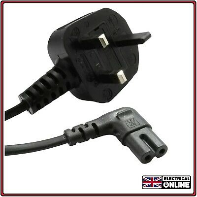 UK Angled 4M LONG Mains Power Lead Cable SAMSUNG LED TV Figure 8 2 PIN