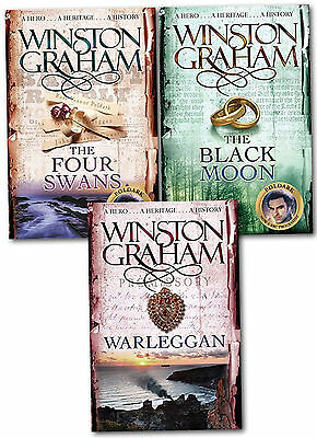 Winston Graham Poldark Series Trilogy Books 4, 5, 6, Collection 3 Books Set