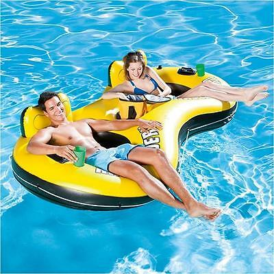Bestway Rapid Rider 2 Inflatable Floating Lake Tube Float Raft Pool Beach Lilo