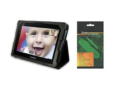 """Black Folio Cover Case and Screen Protector for BlackBerry PlayBook 7"""" Tablet"""