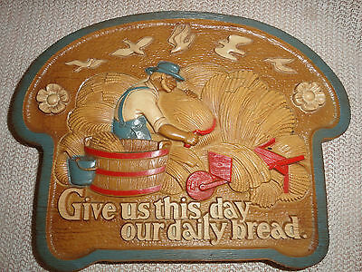 Homco wall plaque Give us this our daily bread   #2769