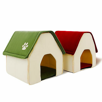 In US Pet Soft Bed Dog House Puppy Kennel Cave Nest Crate Mat Pad Coay Cushion