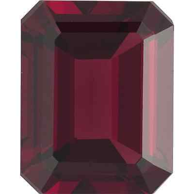 Natural Fine Deep Red Garnet - Emerald Cut - Mozambique - Top Grade