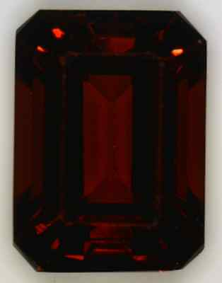 Natural Fine Deep Red Garnet - Emerald Cut - Madagascar - Aaa Grade