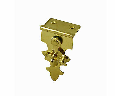 Hasp and Hook Jewellery Case Box Fastener Brass
