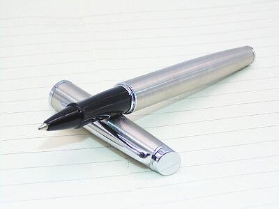 JINHAO 181 Bright Stainless Steel medium Nib Roller ball Pen New Free shipping