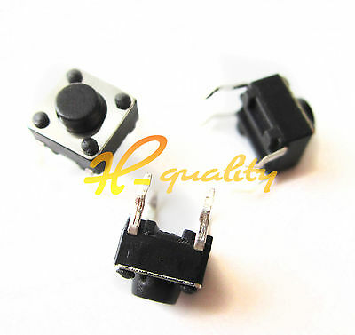 100Pcs 4Pin Tactile Touch Push Button Switch Tact Switches 6 X 6 X 5mm New