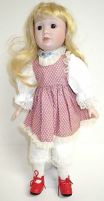 Fine Bisque Porcelain Beautiful Collectible Hand Crafted Doll Red Shoes