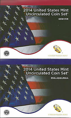 Usa United States Mint Uncirculated Coin Set 2014