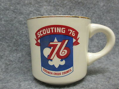 Boy Scouts Scouting 76 1976 French Creek Council Coffee Mug Vintage Made In USA
