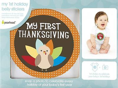 Pearhead Unisex Baby FIRST YEAR HOLIDAY BELLY STICKERS Month Baby Stickers NIB
