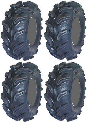 Four 4 Interco Vampire ATV Tires Set 2 Front 25x9.5-12 & 2 Rear 25x12-12