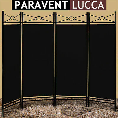 Room Divider Screen Folding Paravent Partition Furniture Room Screen Panel Black