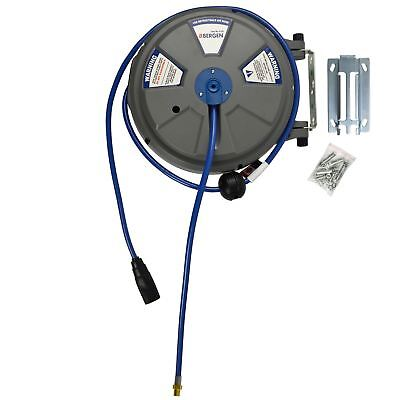 "8mm (1/4"") x 15m (50ft) Retractable Wall Mounted Air Hose Reel BERGEN AT877"