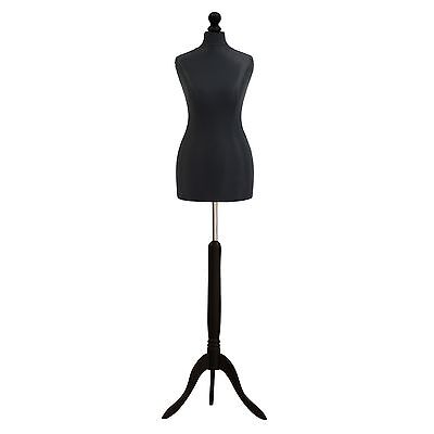 Black Female Tailors Dummy Dressmakers Dressmaking Display Bust Mannequin Stand