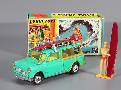 Original Corgi 485 Mini Countryman Traveller Estate Surfing, Boxed
