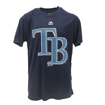 Tampa Bay Rays Official Majestic MLB Youth Athletic polyester T-Shirt New