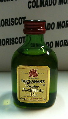 BUCHANAN'S 12 yo SCOTCH WHISKY 5cl 43% GLASS CRISTAL mini mignonette mini bottle