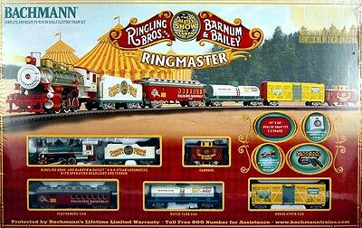 Bachmann HO Scale Train Set Analog Ringling Brothers Circus Ringmaster 00714