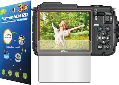 3x Clear / Anti-Glare LCD Screen Protector Guard for Camera Nikon COOLPIX AW130