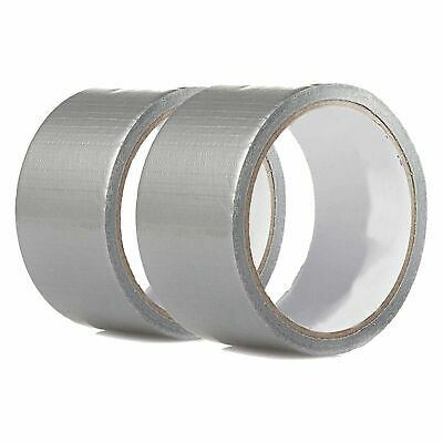 """2 Rolls 30 FT x 1.88"""" Industrial Utility Craft Hardware Duct Tape Silver LOT 2"""