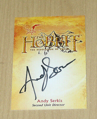 2015 Cryptozoic Hobbit Desolation Smaug autograph Andy Serkis Director CA-4