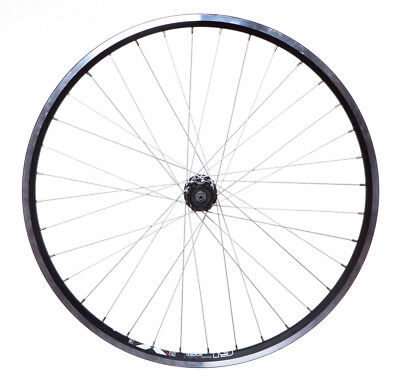 "Front X-STAR 26"" MTB Wheel Black high quality Disc Hub Quick Release Double Wall"