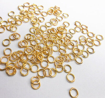 500PCS 3-9MM Wholesale Making Jewelry Findings  Gold Plate Opening Jump Rings