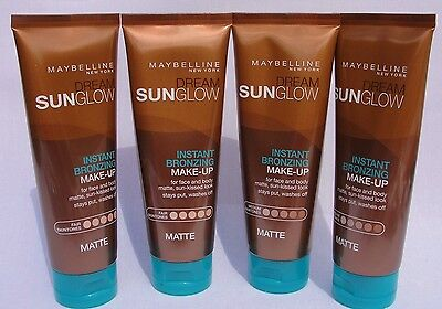 2 x Maybelline Matte Sun Glow Instant Bronzing Make up For face , Legs & body