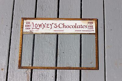 Vintage Lowney's Chocolates Glass Lid Store Display Cover RARE