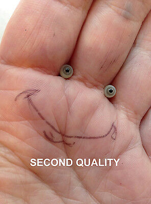 M00669 MOREZMORE SECONDS Miniature Glass Eyes 4 mm LIGHT GREY Small Tiny NSS