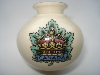 Cww1 Vintage Canada Regiment W.h.goss Vase From Silchester In Reading Museum