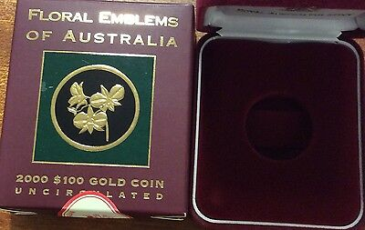 empty 2000 floral emblems of Australia  empty box and certificate