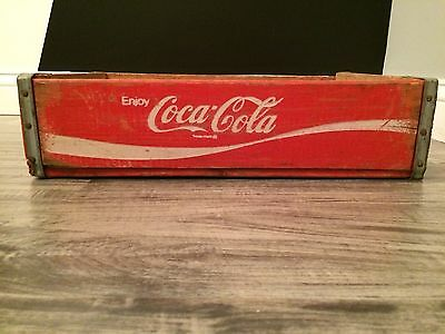 (#84) Vintage Near Mint Red Coke Coca Cola Wood Soda Pop Case Crate