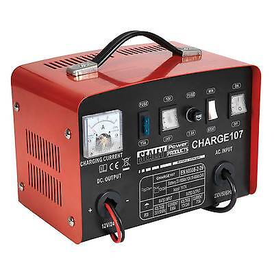 Sealey Battery Charger/Charging/Starter - 11Amp - 12/24V 230V - CHARGE107