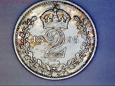 1895 Queen Victoria  Maundy 2d twopence Coin