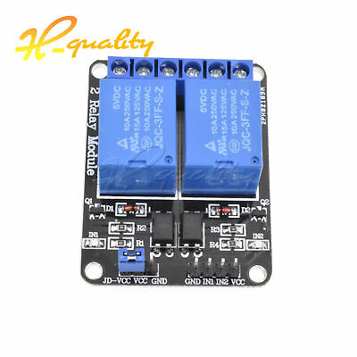 2pcs 5V Two 2 Channel Relay Module With optocoupler PIC AVR DSP ARM Arduino NEW