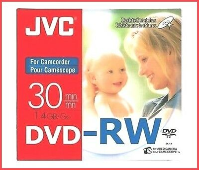 JVC DVD-RW 1,4 GO 8cm 30min Graveur Camescope Mini DVD Disques Cd Paquet 5+16