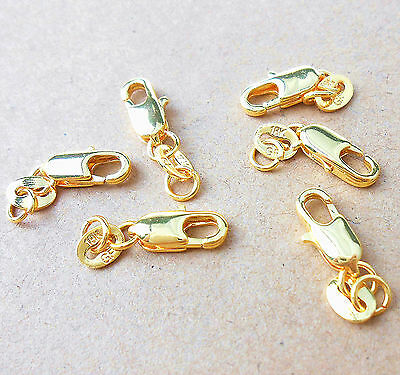 Wholesale DIY 10PCS Jewelry Findings 18K Yellow Gold Filled GF Lobster Clasps
