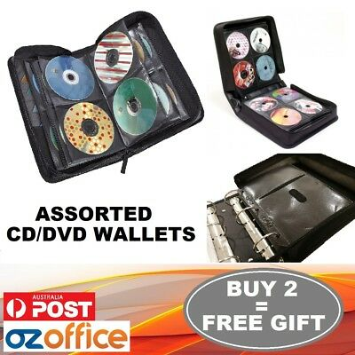 Disc CD DVD Storage Case Wallet Leather Album Folder 24 40 96 240 360 400