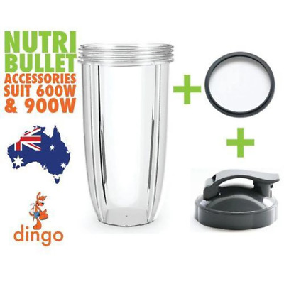 NUTRIBULLET COLOSSAL TALL LARGE CUP + FLIPTOP LID + GREY SEAL - 900 & 600 Models