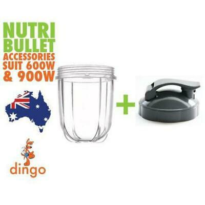 NUTRIBULLET SHORT CUP + FLIPTOP LID - For ALL Nutri Bullet 600 & 900 Models