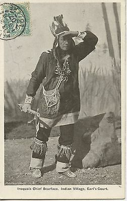 Carte Postale / Postcard / Iroquois Chief Scaface Indian Village Earl's Court