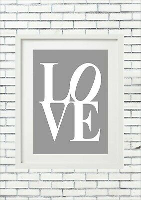Love Wedding Engagement Valentines Sign Quote Present Sign Artwork Quote Decor